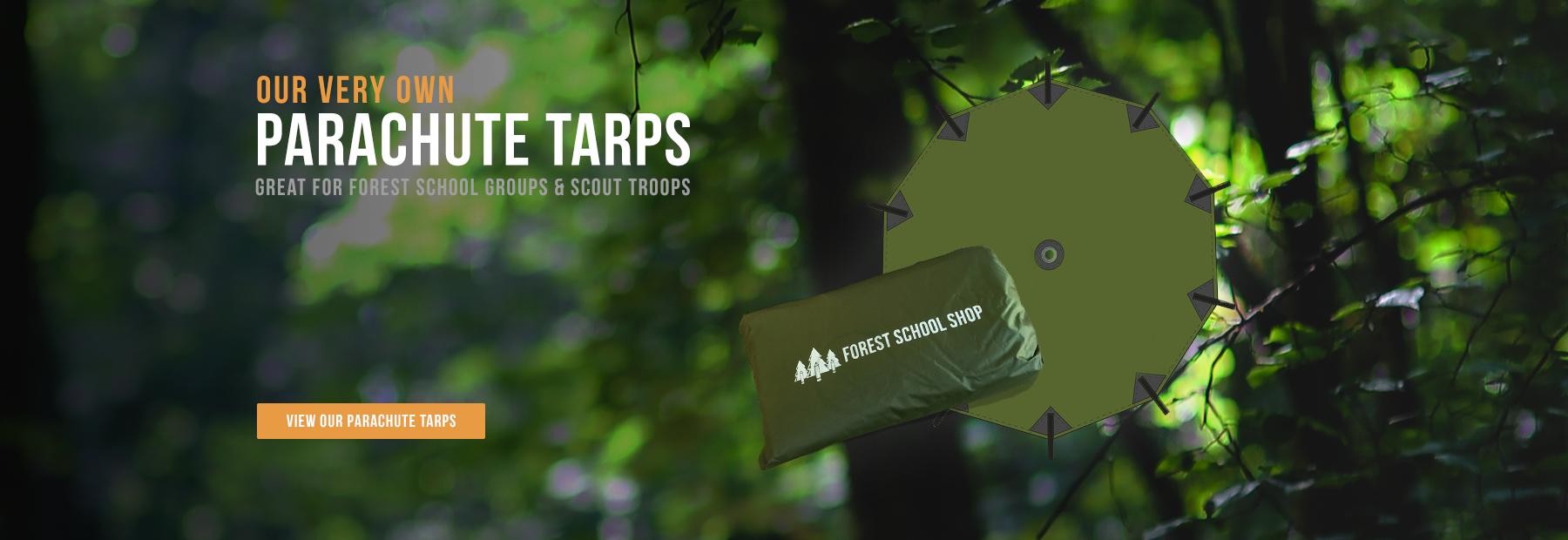 Parachute Tarp - Great for Forest School Groups and Scout Troops