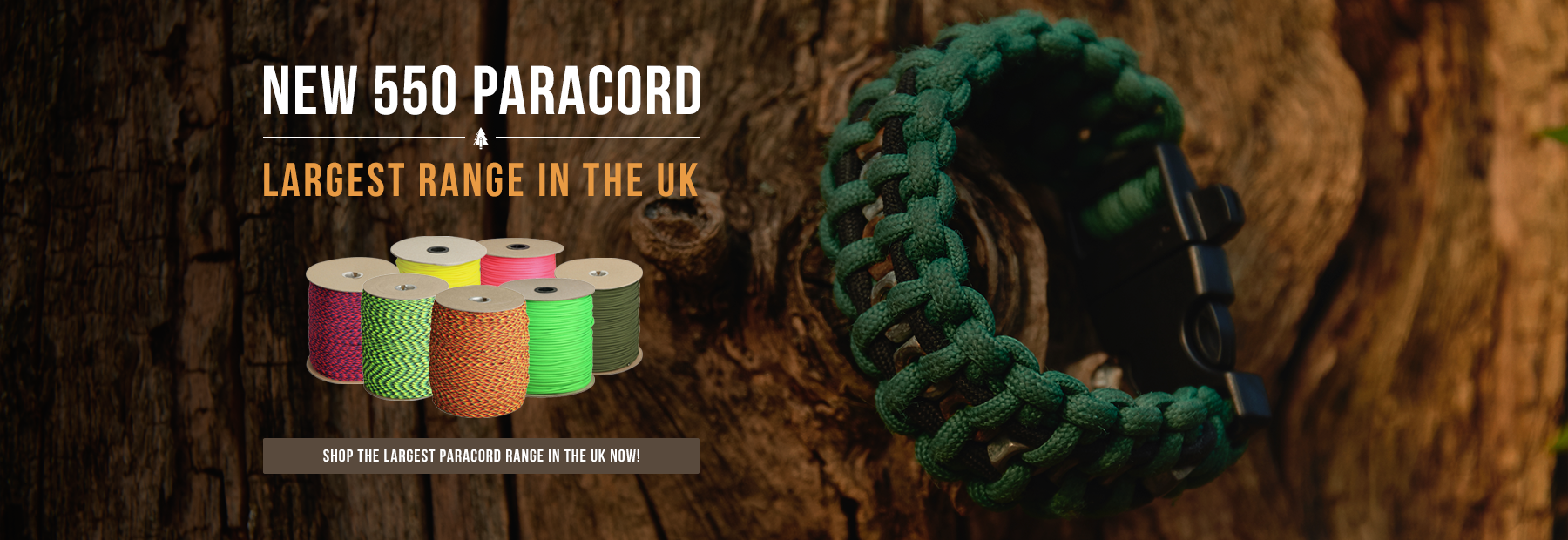 New 550 Paracord - Largest Range in the UK